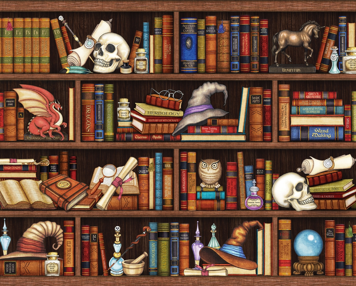 Mystic Realm Library / Museum Jigsaw Puzzle