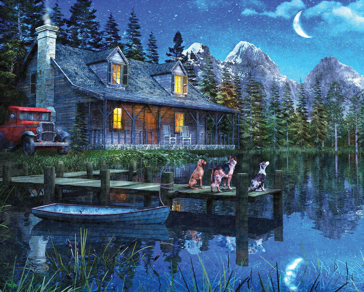 Moonlit Night Outdoors Jigsaw Puzzle