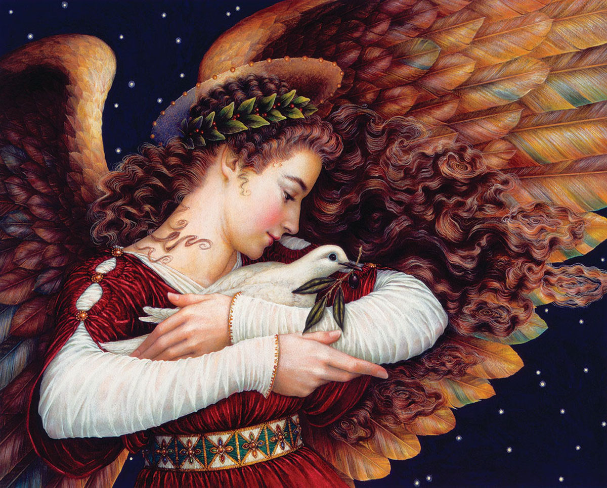 Angel and Dove Religious Jigsaw Puzzle