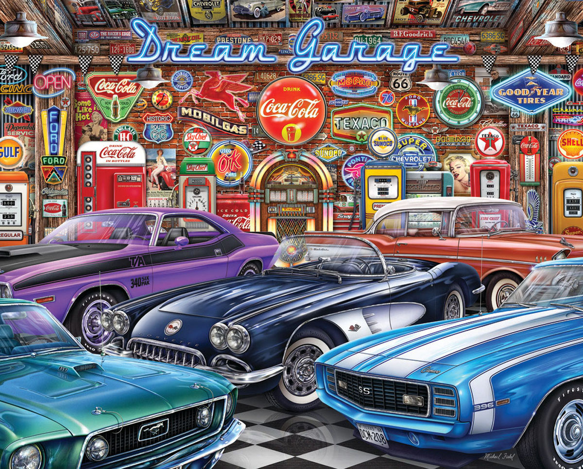 Dream Garage Cars Jigsaw Puzzle