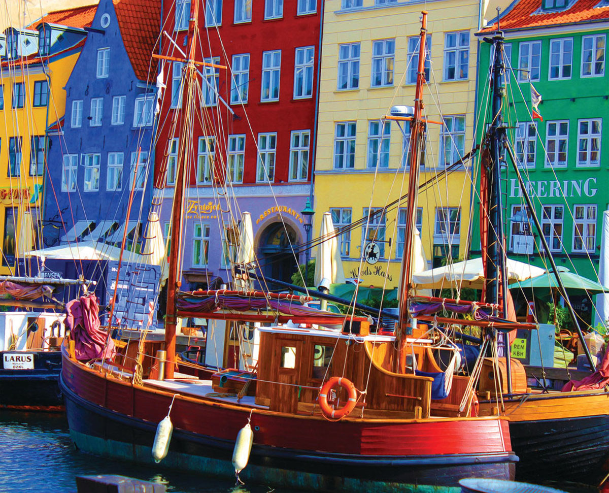 Copenhagen Waterfront Travel Jigsaw Puzzle