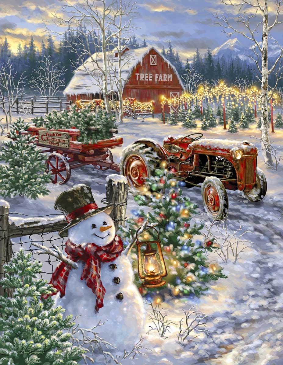 Christmas Tree Farm Farm Jigsaw Puzzle