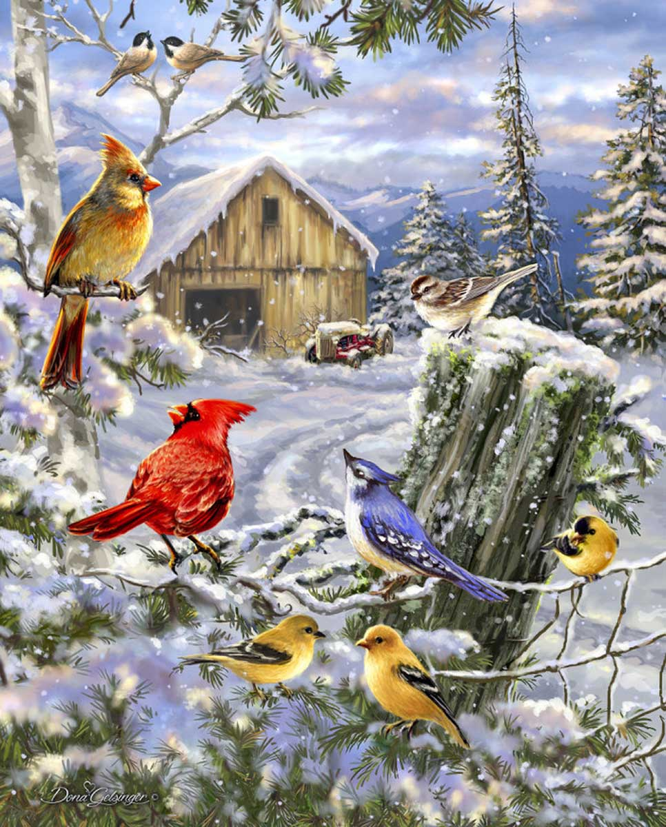 Frosty Morning Song Farm Jigsaw Puzzle