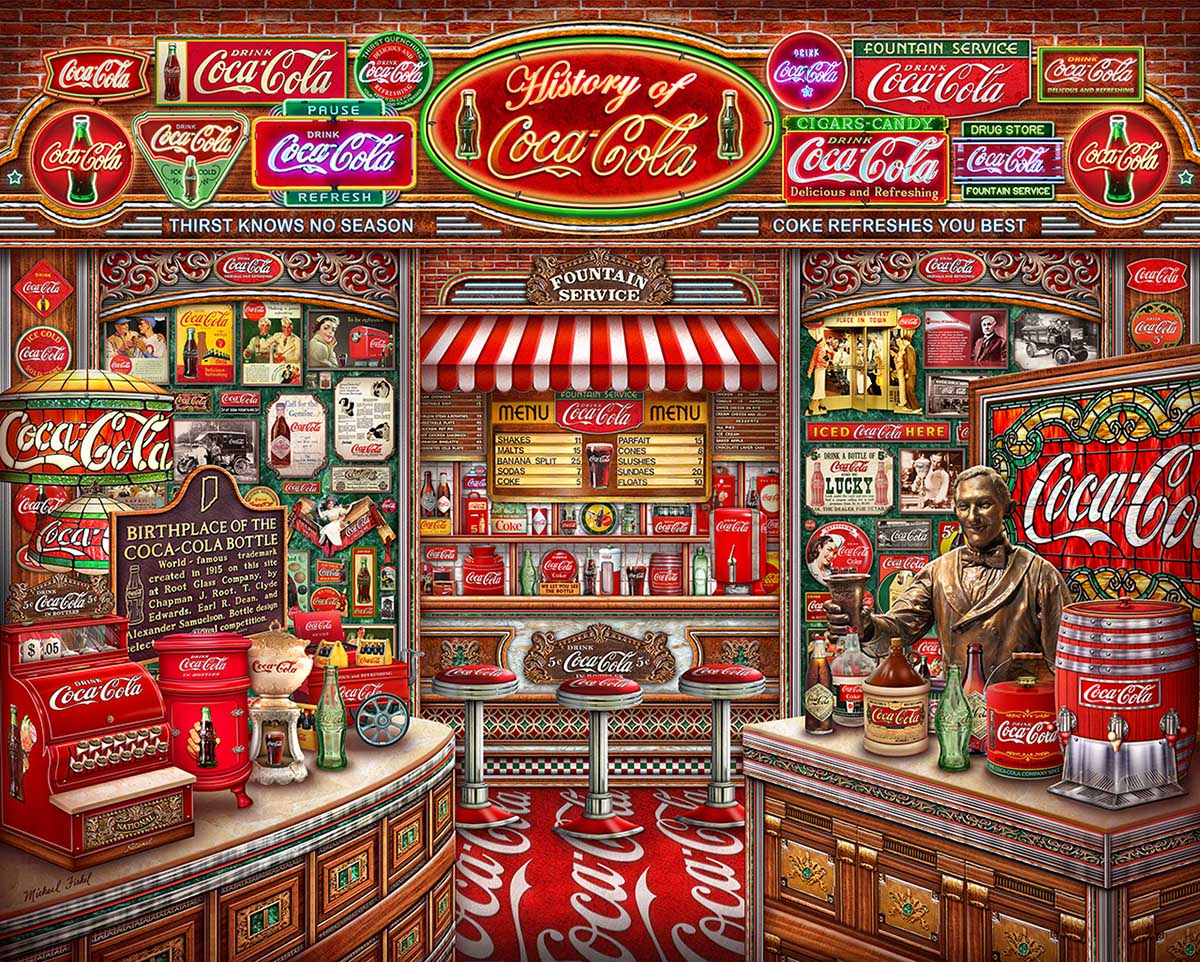 Coca Cola History Nostalgic / Retro Jigsaw Puzzle