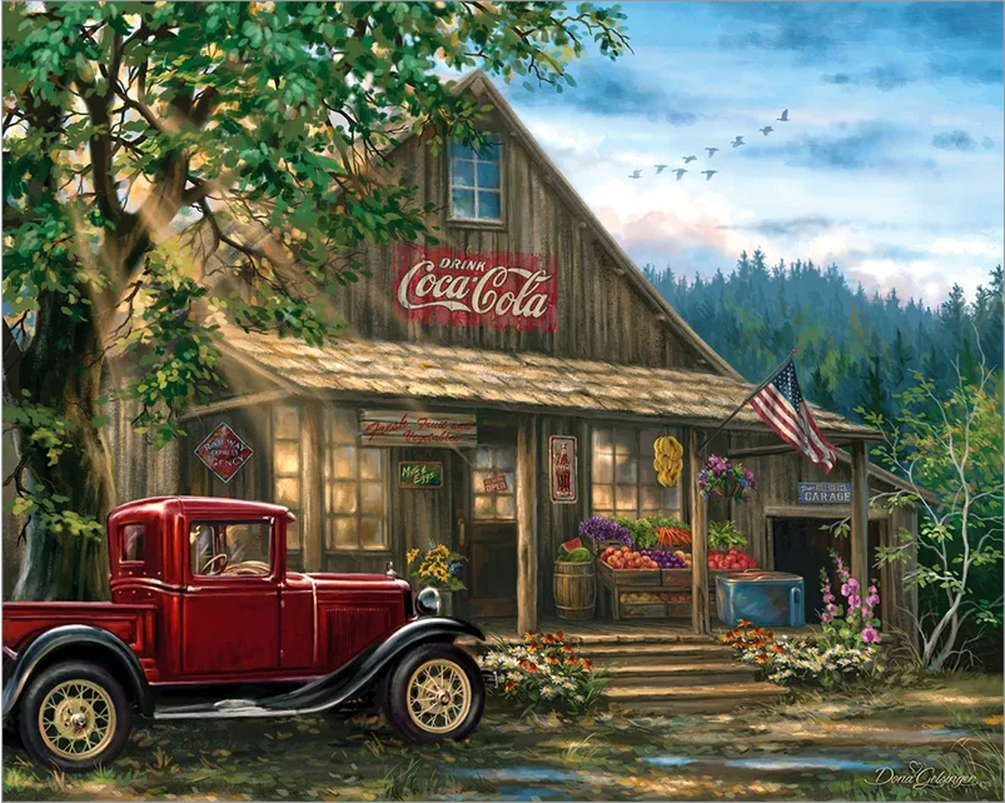 Country General Store Countryside Jigsaw Puzzle