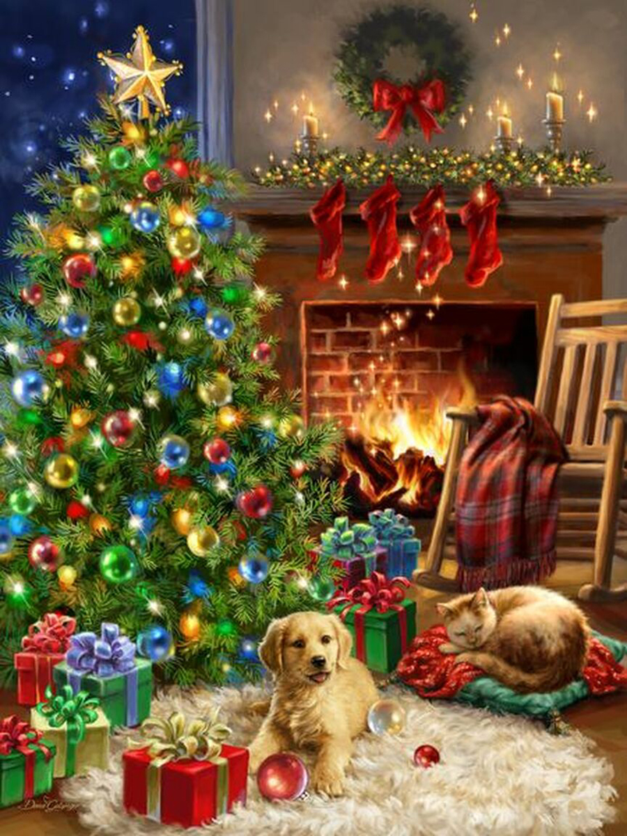 Christmas Morning Dogs Jigsaw Puzzle