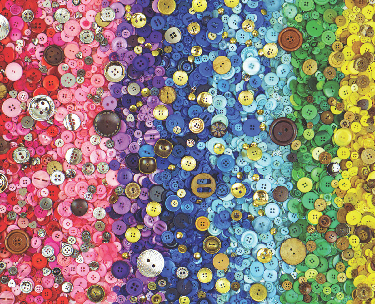 Bunches Of Buttons Everyday Objects Jigsaw Puzzle