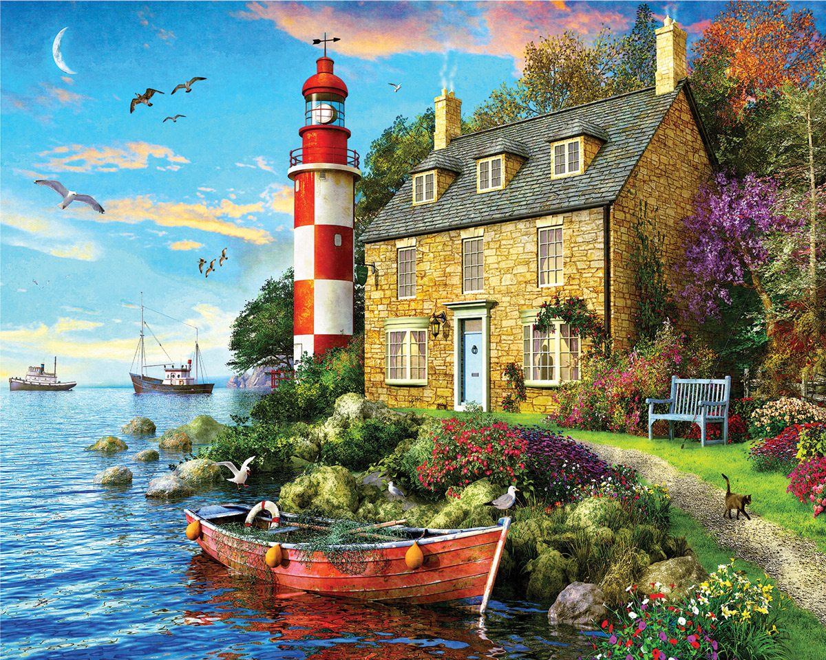 The Cottage Lighthouse Lighthouses Jigsaw Puzzle