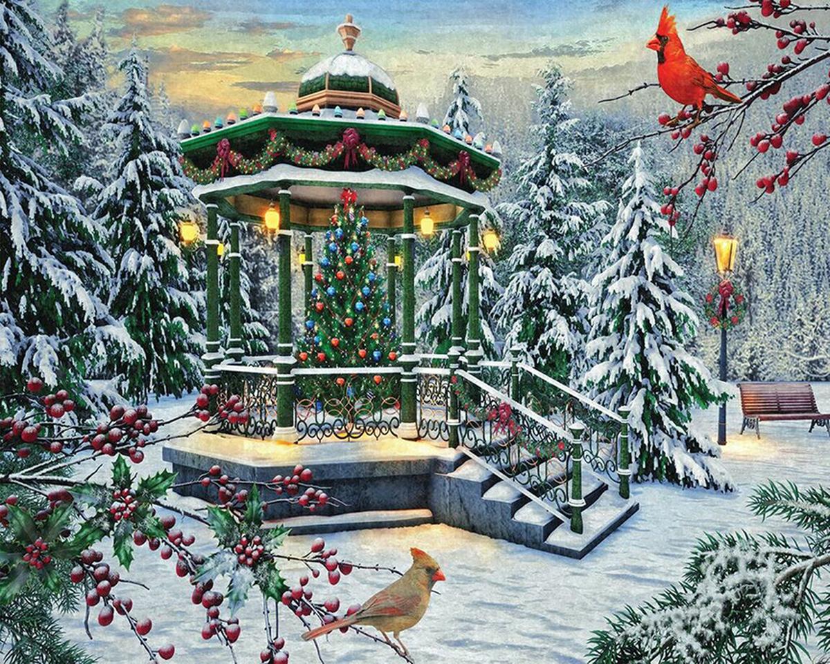 Holiday Gazebo Christmas Jigsaw Puzzle