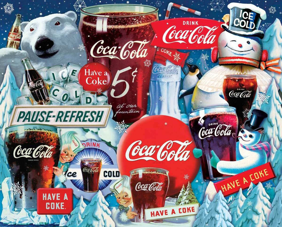 Coca-Cola Ice Cold Christmas Food and Drink Jigsaw Puzzle