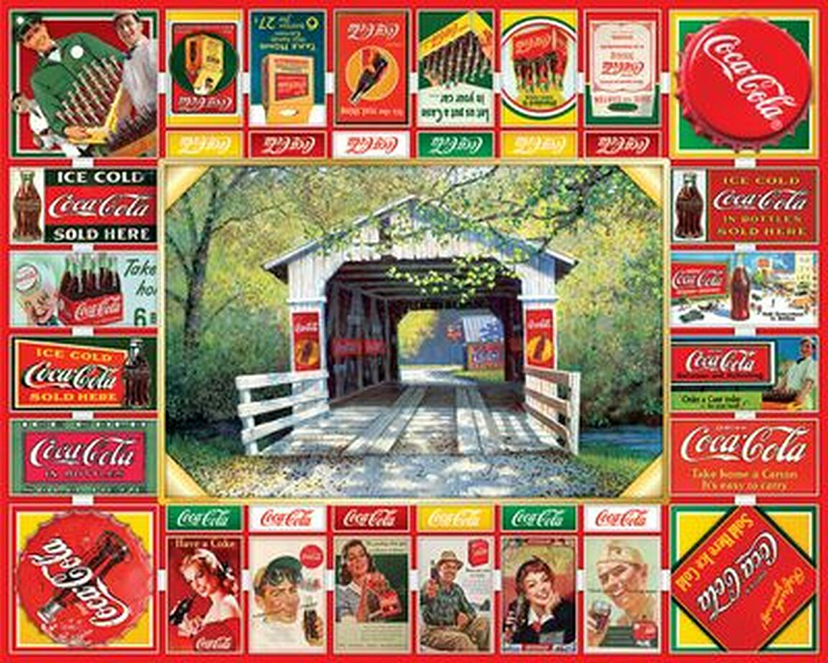 Coca Cola Gameboard Food and Drink Jigsaw Puzzle