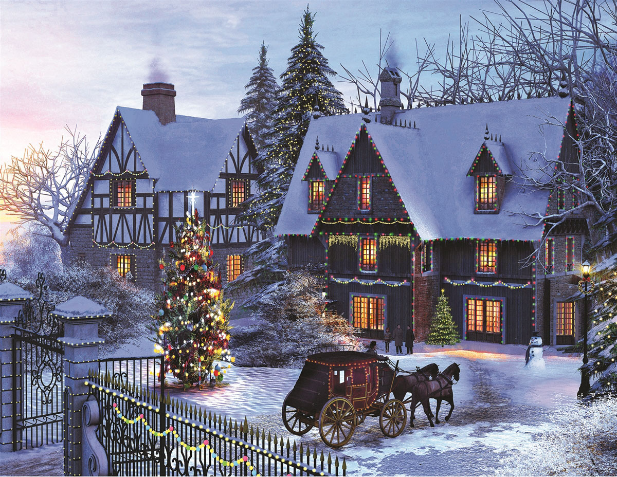 Home for Christmas Winter Jigsaw Puzzle