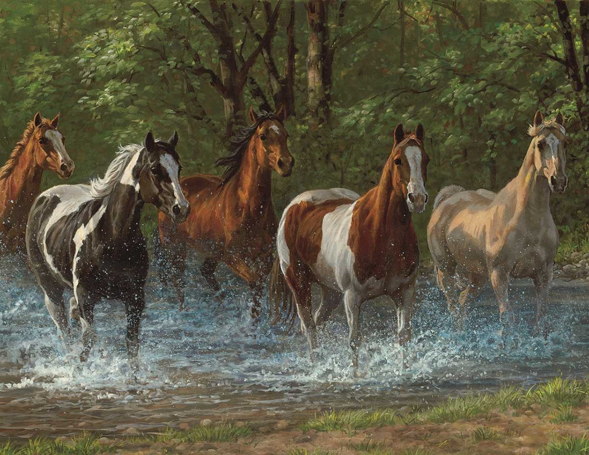 Summer Creek Horses Jigsaw Puzzle