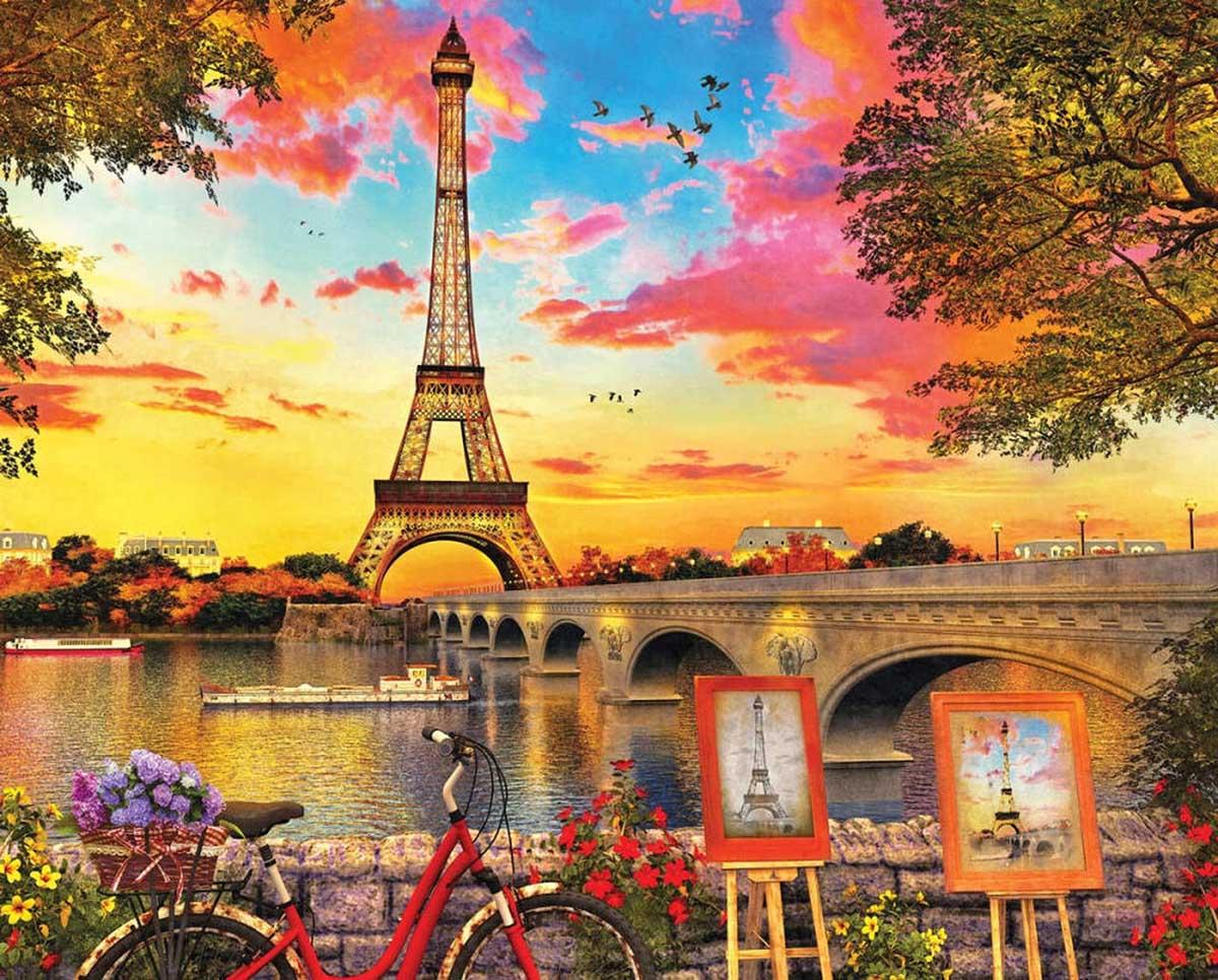 Paris Sunset Paris Jigsaw Puzzle