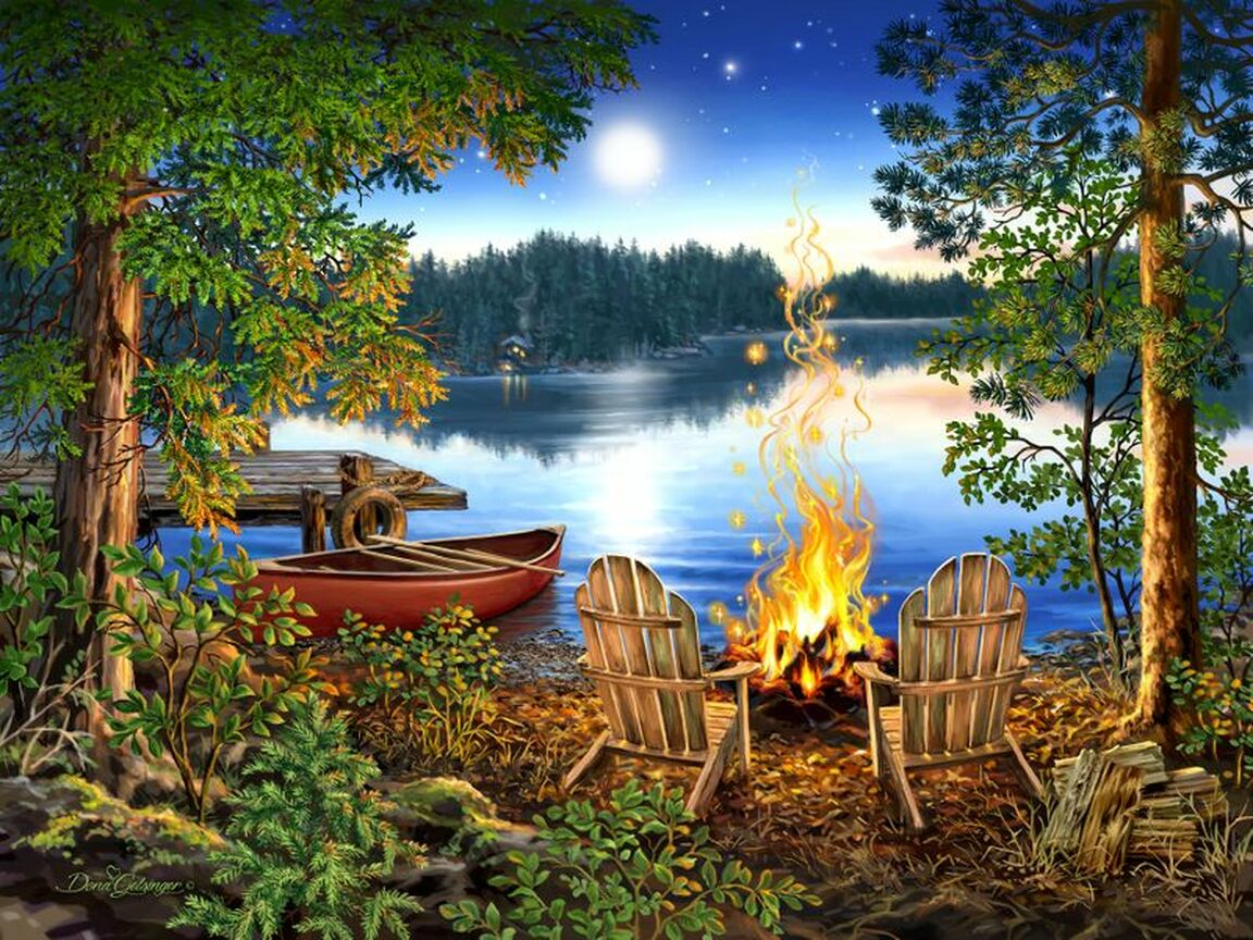 Lakeside Lakes / Rivers / Streams Jigsaw Puzzle