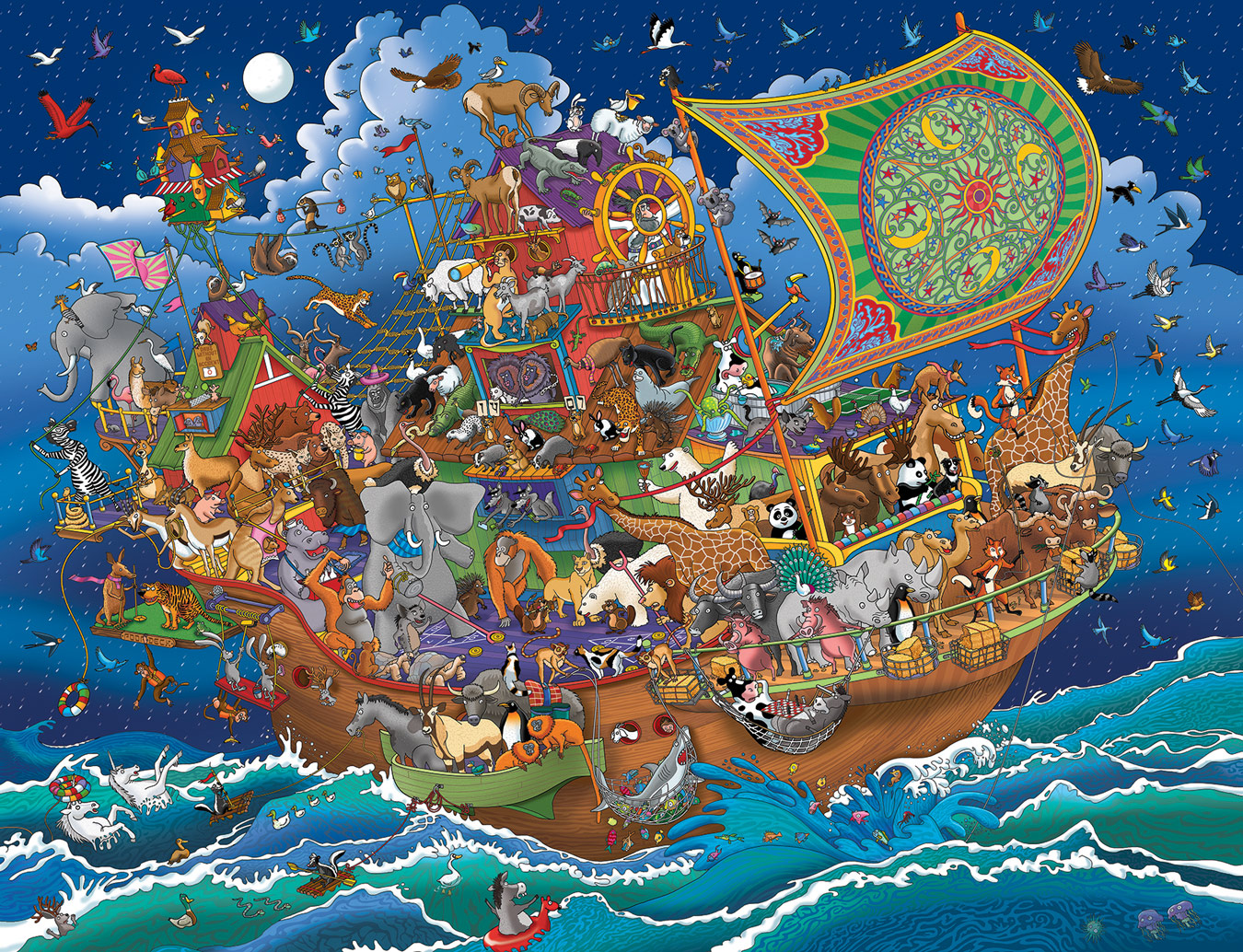Noah'S Ark Adventure Animals Jigsaw Puzzle