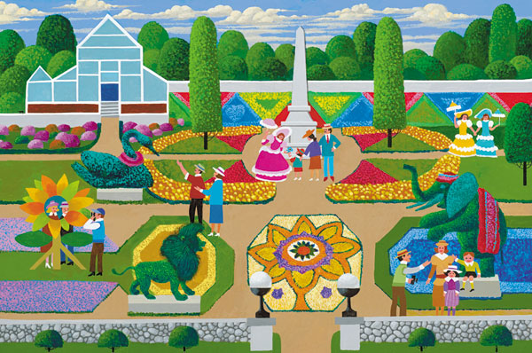 Flower Festival Folk Art Jigsaw Puzzle