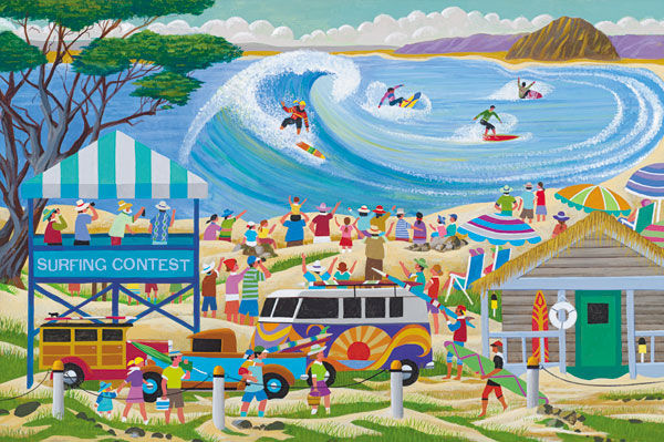 Surfing Contest Beach Jigsaw Puzzle