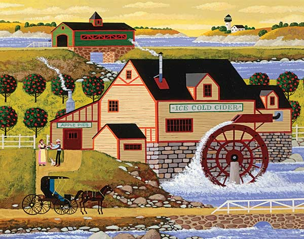 Hometown Collection Old Cider Mill Jigsaw Puzzle