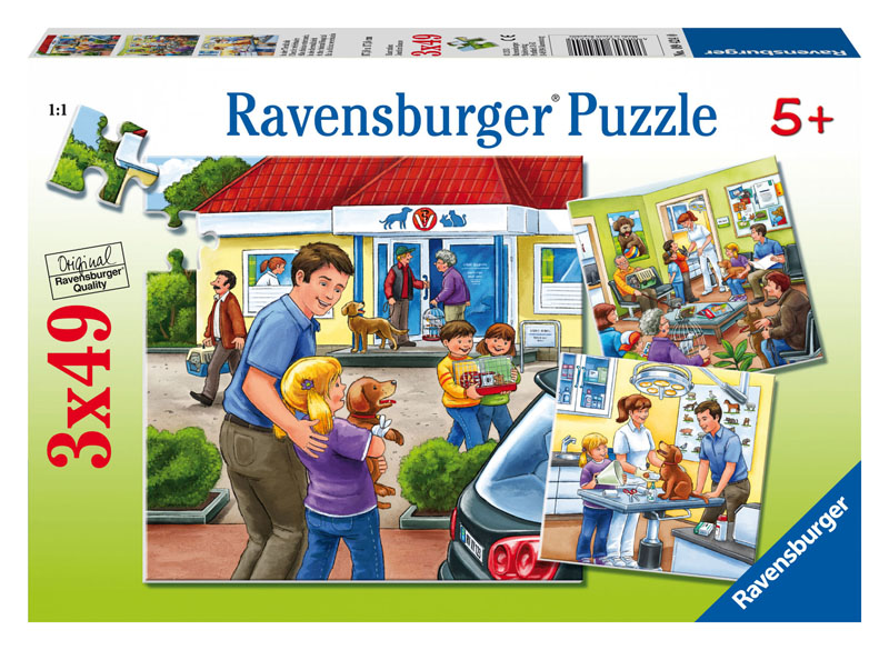 At the Animal Hospital Cartoons Jigsaw Puzzle
