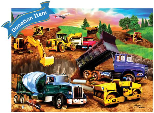 Life Skills - Construction Crowd Construction Jigsaw Puzzle