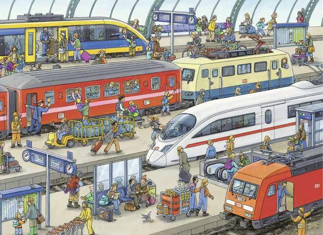 Railway Station Trains Jigsaw Puzzle