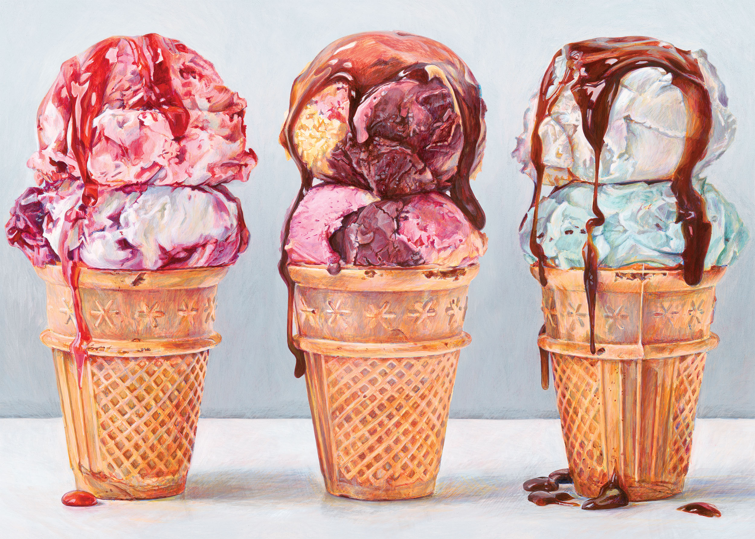 Ice Cream Cones Food and Drink Jigsaw Puzzle