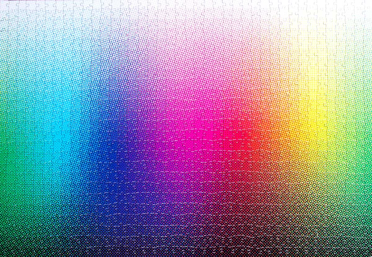1000 Halftone Colours Puzzle Graphics / Illustration Jigsaw Puzzle