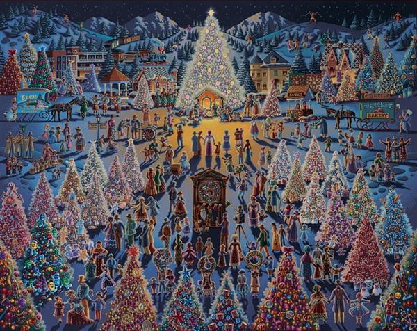 Dowdle - Festival of Trees, 1000pc Folk Art Jigsaw Puzzle