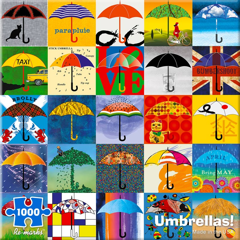 Umbrellas! Collage Jigsaw Puzzle