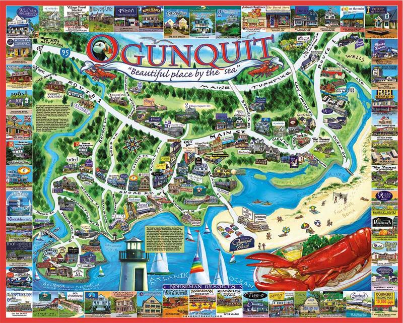 Ogunquit Maine Map Ogunquit, ME Jigsaw Puzzle | PuzzleWarehouse.com