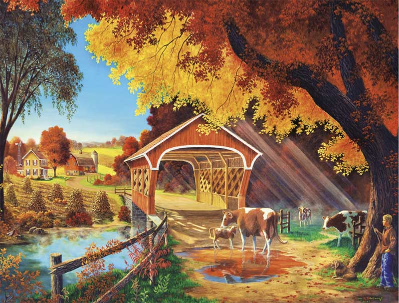 Autumn Morning Countryside Jigsaw Puzzle