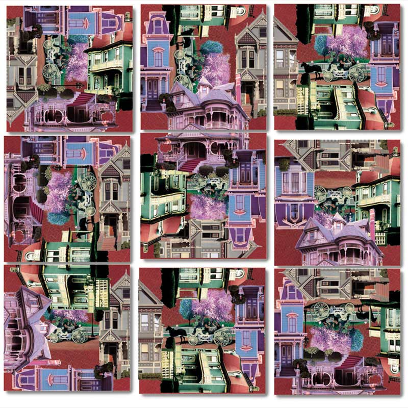 Victorian Homes Nostalgic / Retro Jigsaw Puzzle