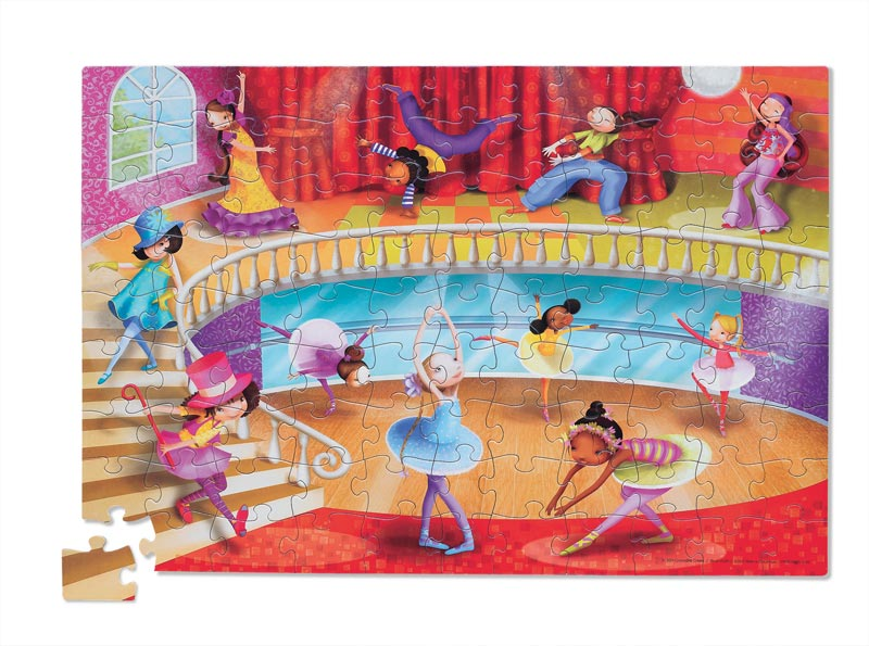 Travel Pouch Dance Dance Children's Puzzles
