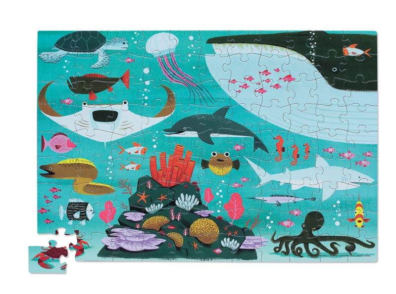 Travel Pouch Ocean Marine Life Children's Puzzles