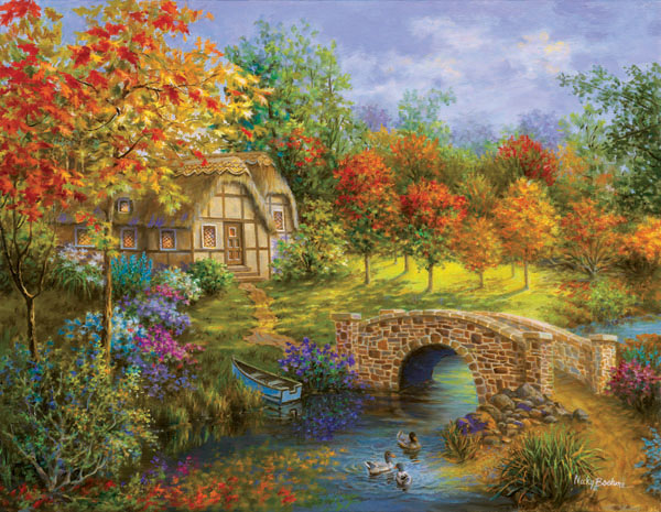 Autumn Beauty Bridges Jigsaw Puzzle