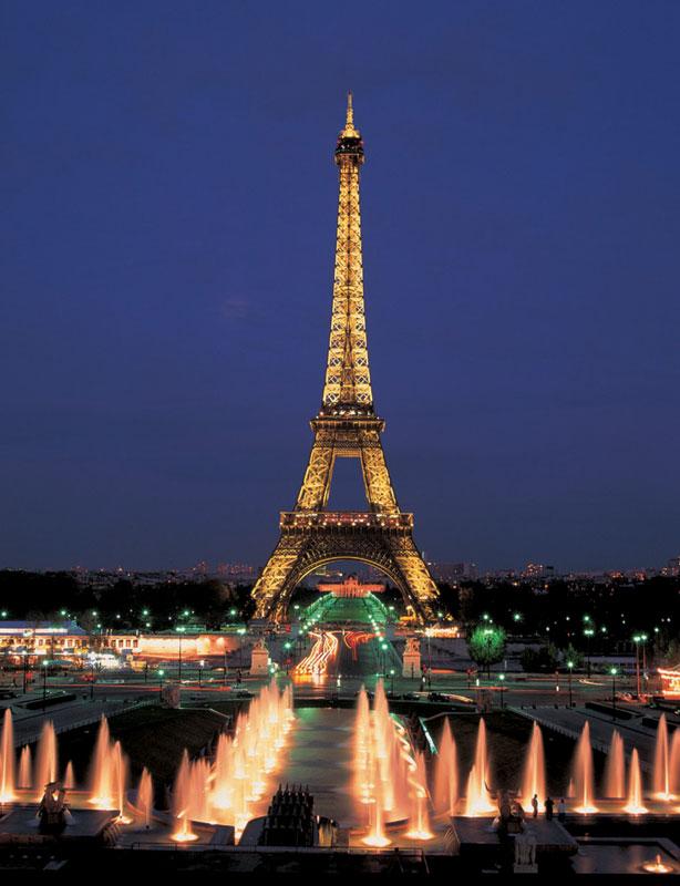 Eiffel Tower, Paris, Neon Eiffel Tower Glow in the Dark