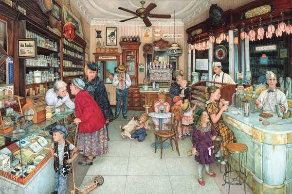 The Soda Fountain Nostalgic / Retro Jigsaw Puzzle