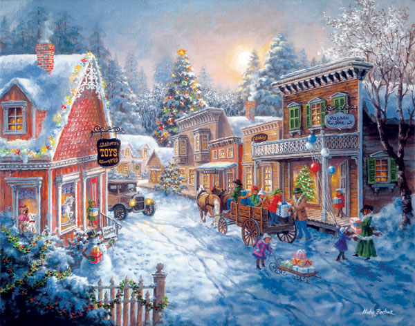 Good Old Days Christmas Jigsaw Puzzle