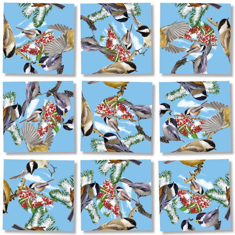 Black Capped Chickadees Birds Children's Puzzles