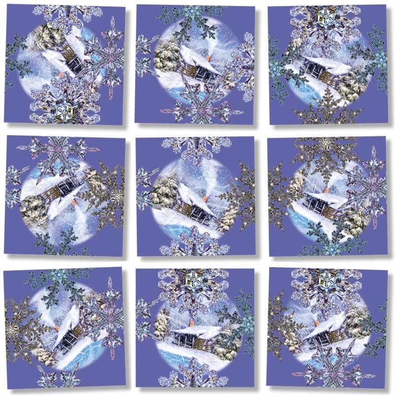Snowflakes Snow Children's Puzzles