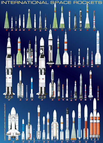 International Space Rockets - Scratch and Dent Space Jigsaw Puzzle