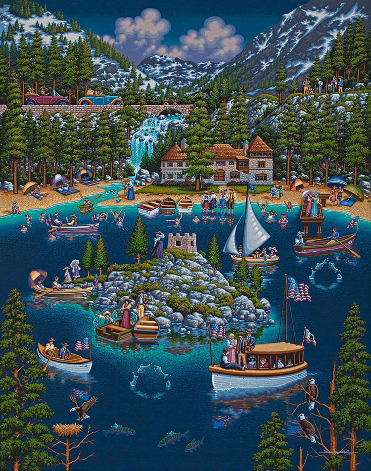 Lake Tahoe Mountains Jigsaw Puzzle