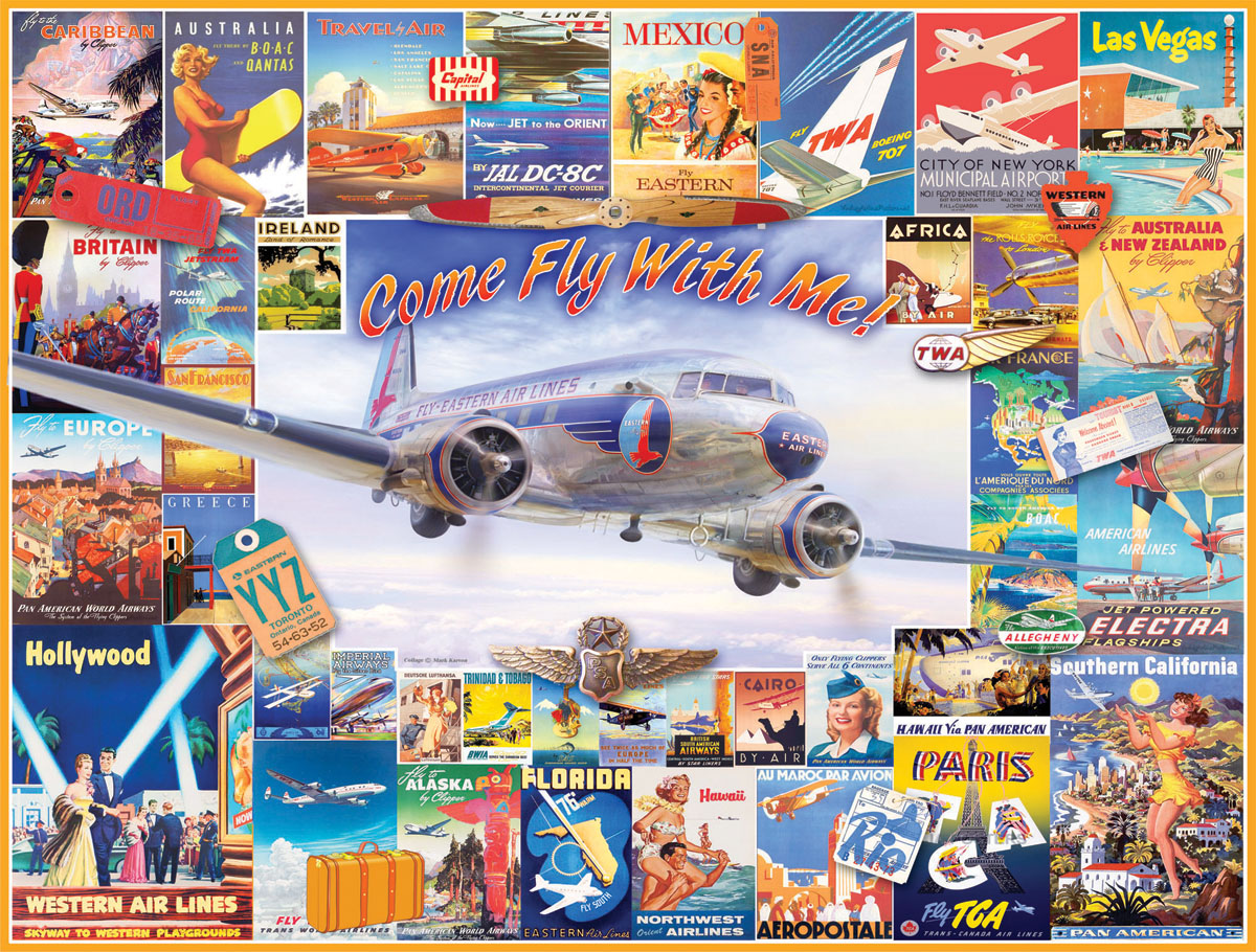 Come Fly With Me Collage Jigsaw Puzzle