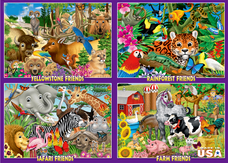 Animal Friends - Scratch and Dent Animals Jigsaw Puzzle