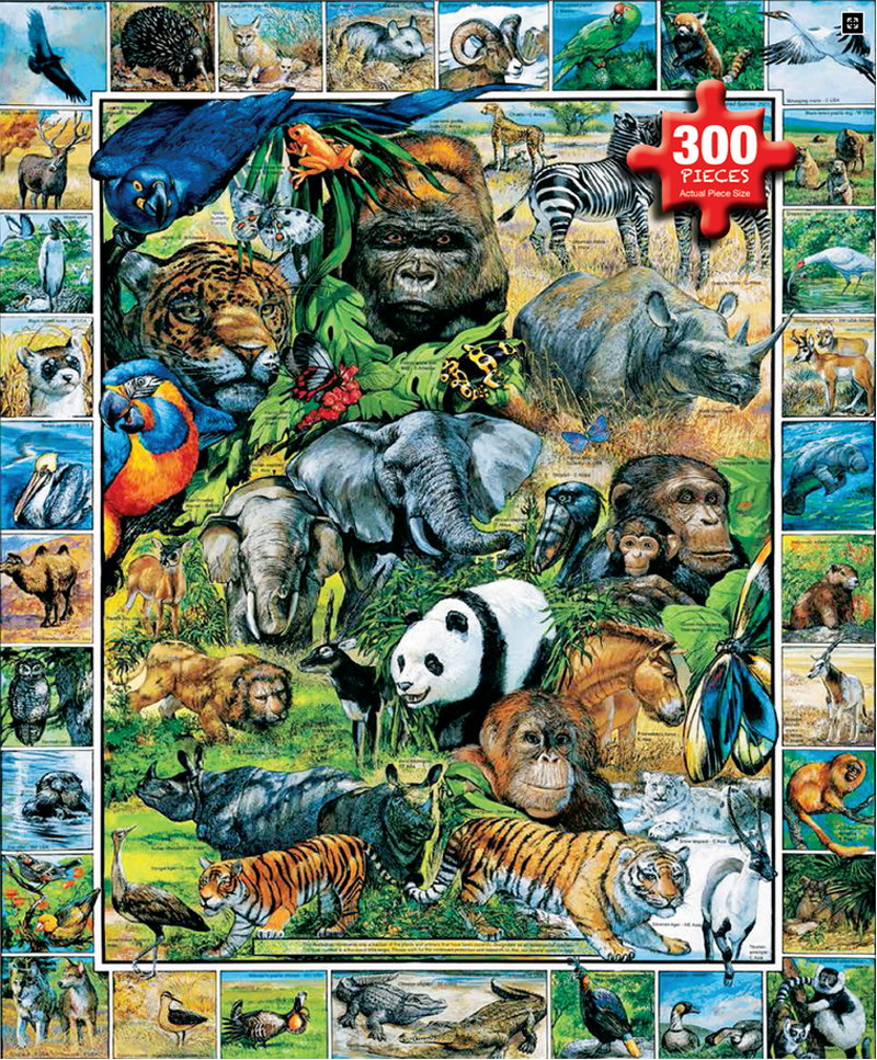 Endangered Species, 300 Pieces, White Mountain   Puzzle ...