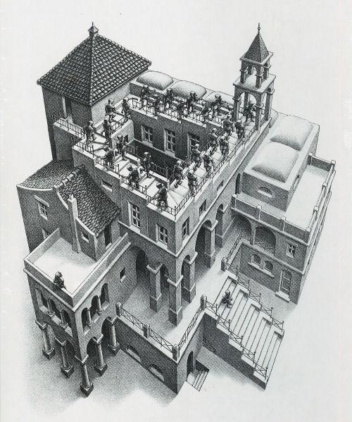 Escher: Ascending and Decending Jigsaw Puzzle