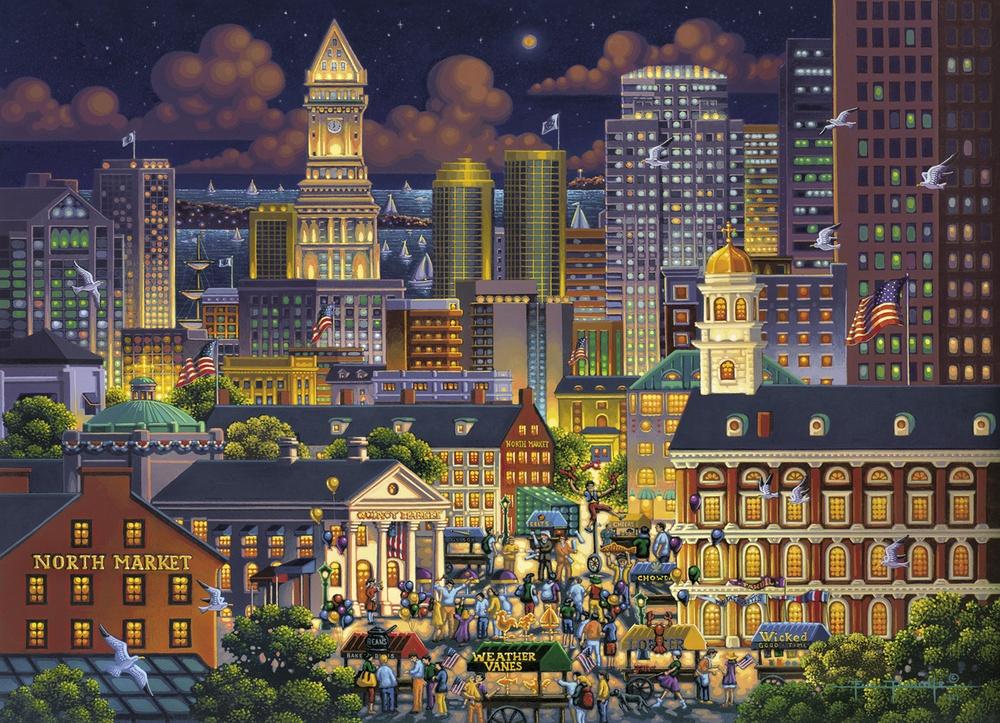 Boston Market Americana & Folk Art Jigsaw Puzzle
