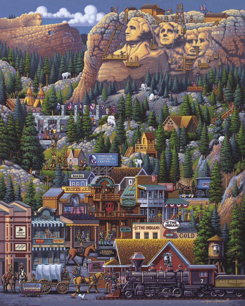 The Black Hills Landmarks / Monuments Jigsaw Puzzle
