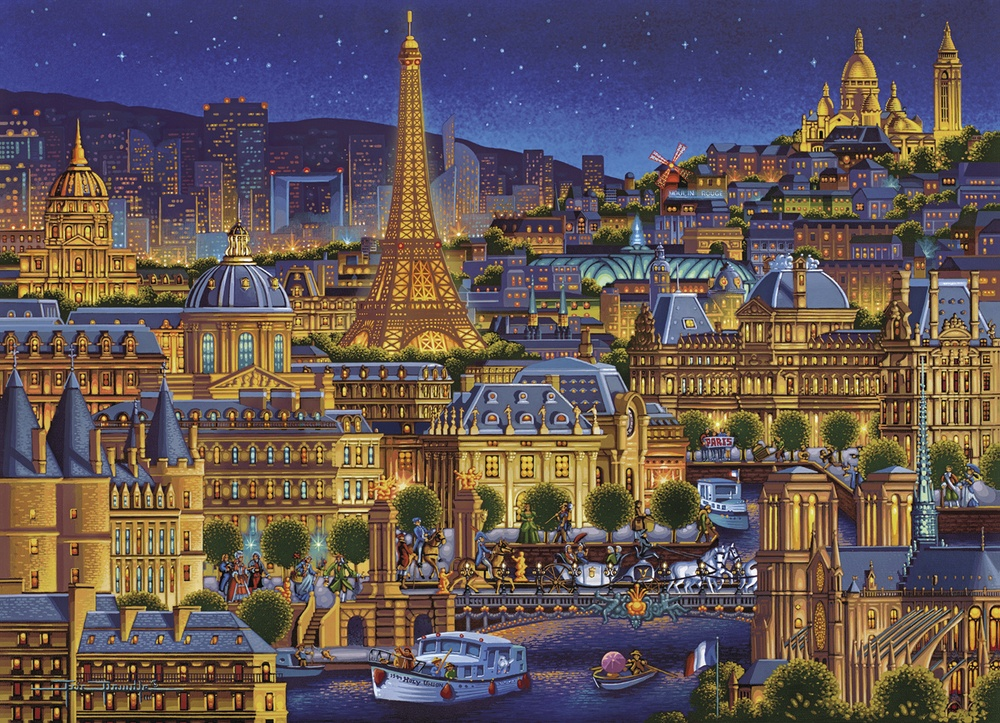 Paris City Of Lights Paris Jigsaw Puzzle
